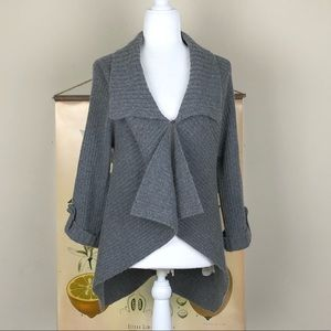MARGARET O'LEARY | Gray Cardigan Sweater